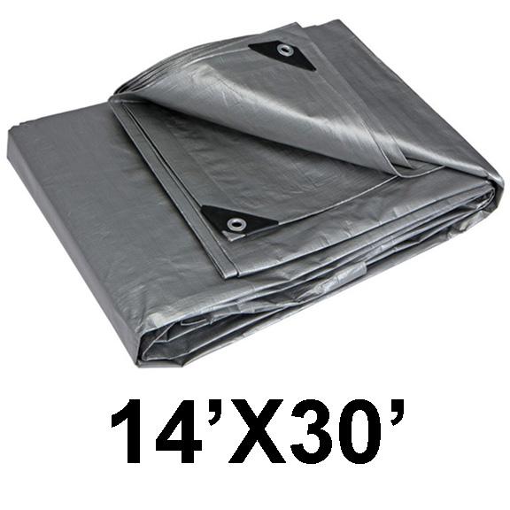 AJ Tools CHIT0479A 14 x 30 Silver Tarp Heavy Duty